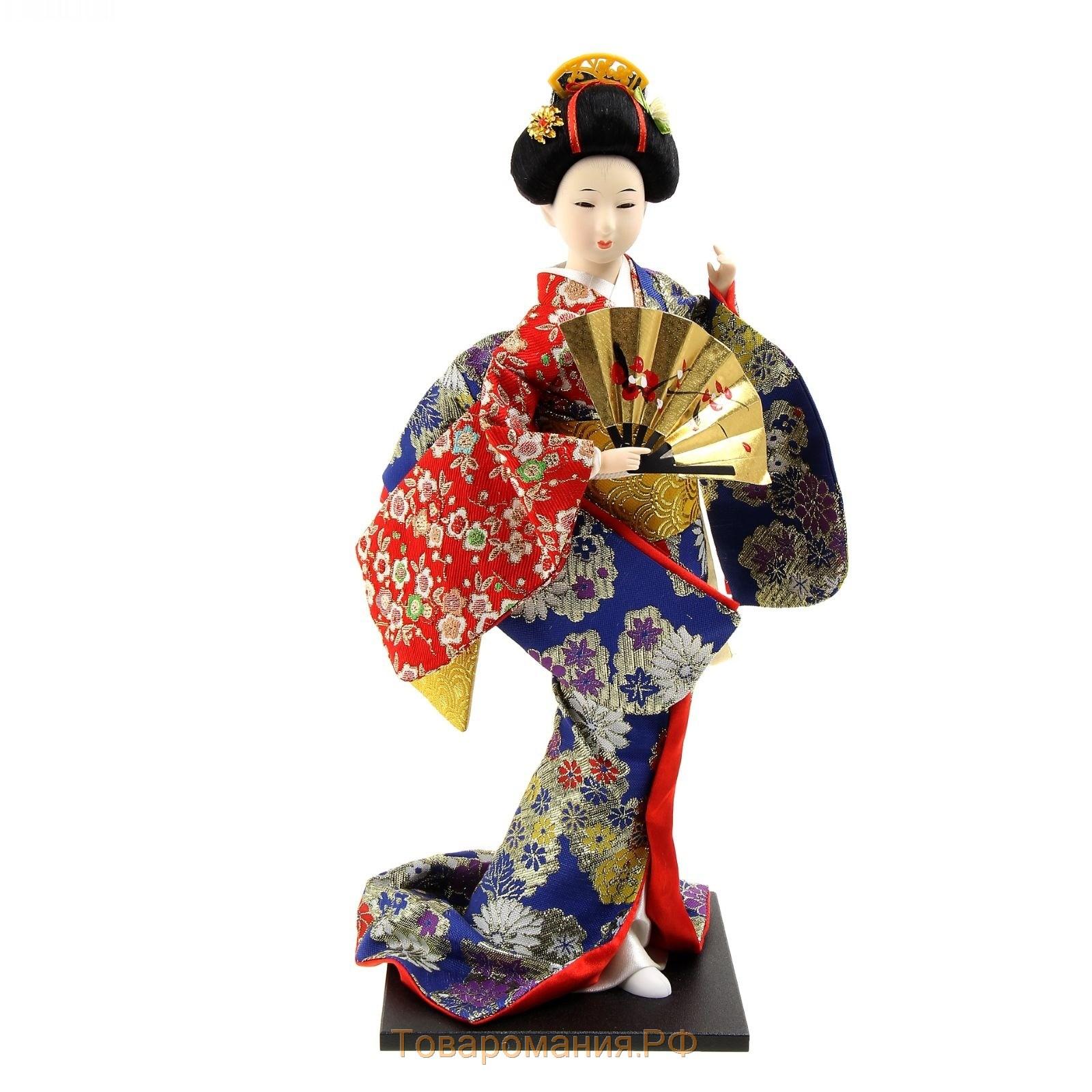 Japanese woman geisha girl figurine for sale painting by joanna szmerdt