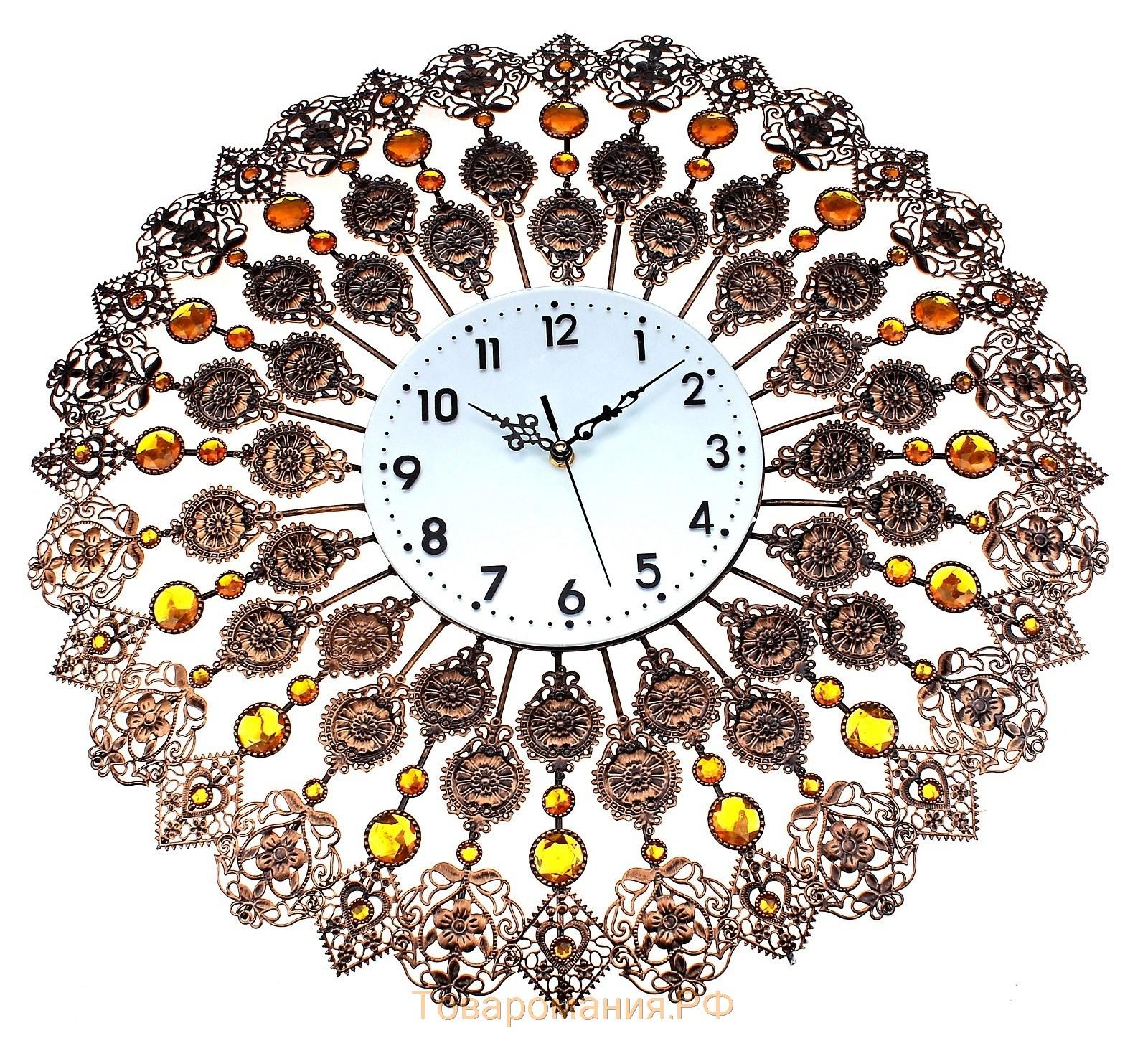 Часы настенные своими руками с камнями