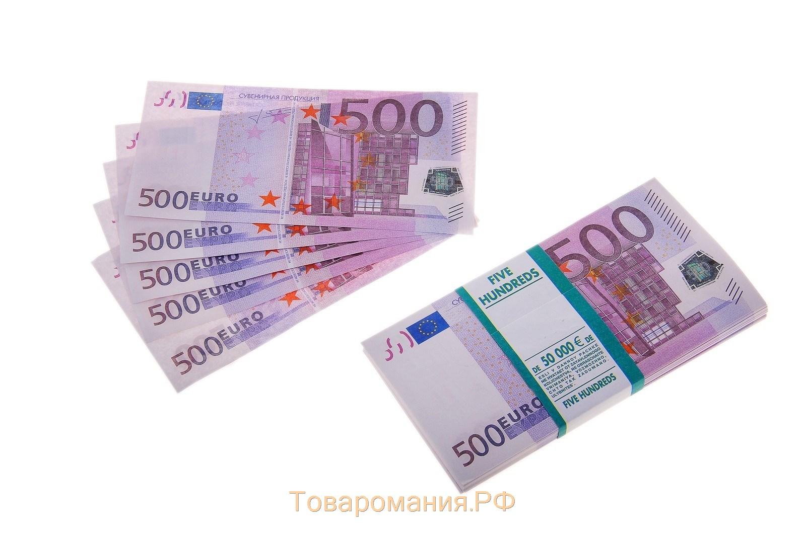 Пачка евро фото